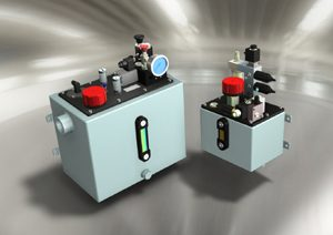Power unit for hydraulic overload